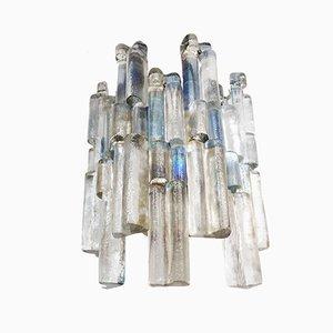 Aplique austriaco vintage de cristal hielo de Murano coloreado de J.T. Kalmar