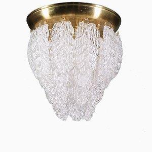 Lámpara de araña Graniglia Mid-Century de cristal de Murano de Barovier e Toso