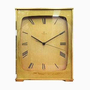 Orologio da camino vintage in ottone