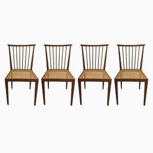 Chaises de Salon Mid-Century par Hagenauer Wien, Set de 4