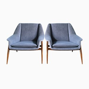 Mid-Century Teak Lounge Chairs, 1960s, Set of 2
