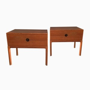 Teak Night Stands by Aksel Kjersgaard, 1955, Set of 2