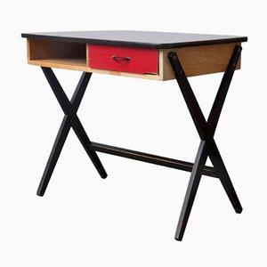 Vintage Holz Schreibtisch mit Formica Platte von Devo