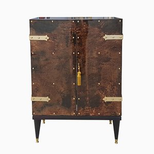 Mid-Century Modern Goatskin Cabinet by Aldo Tura