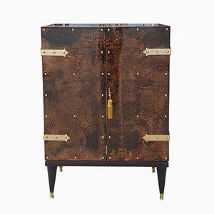 Mueble Mid-Century moderno de piel de cabra de Aldo Tura