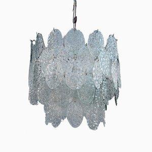 Lámpara colgante de cristal de Murano de Vistosi, años 60