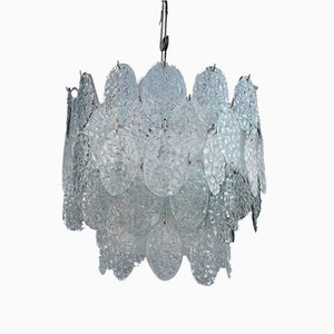 Lampe à Suspension en Verre Murano de Vistosi 1960s