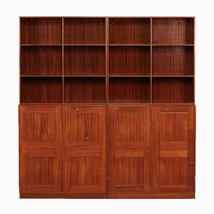 Danish Four-Section Mahogany Bookcase by Mogens Koch for Rud. Rasmussen, 1960s