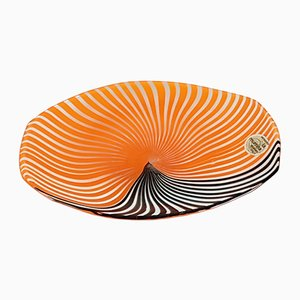 Small Murano Glass Plate by Gian Maria Potenza for La Murrina, 1960s