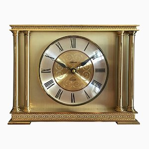 Brass Mantel Clock from Atlanta, 1979