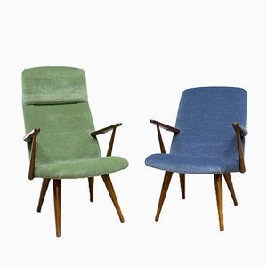 Vintage Velvet Armchairs from Akerblom, Set of 2