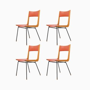 Italian Boomerang Chairs by Carlo Ratti, 1950s, Set of 4