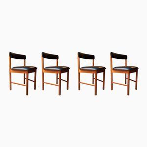Englische Esszimmerstühle, 1960er, 4er Set