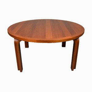 Mid-Century Danish Mahogany Circular Coffee Table from Magnus Oleson