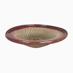 German Glass Bowl by Karl Wiedmann for WMF Ikora, 1930s