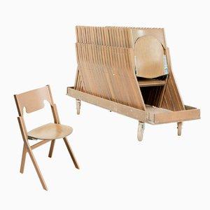 Scandinavian Modern Klappstühle von Ake Axelsson, 24er Set