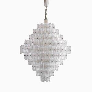 Italienische Kristall Lampe, 1960er