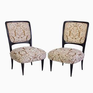 Handmade Italian Mahogany Chairs, 1960s, Set of 2