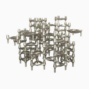 Candelero escultural vintage con 52 piezas de Caesar Stoffi para BMF Nagel, años 70