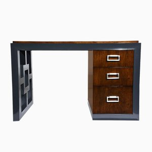 Mid-Century Modern Two Tone Kneehole Desk, 1960s