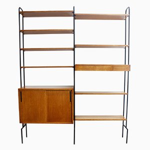 Mid-Century Modern Black Hairpin Wall Unit