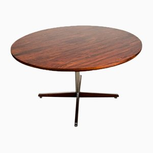 Mid-Century Norwegian Rosewood Veneer Side Table, 1960s