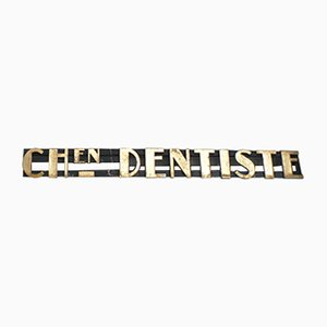 Letrero de dentista Art Déco vintage, años 30