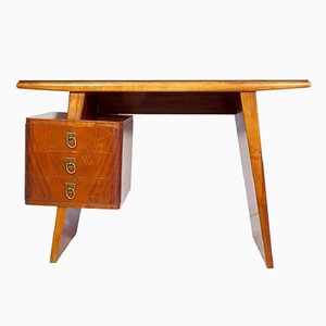 Small Italian Mahogany Writing Desk with Drawers
