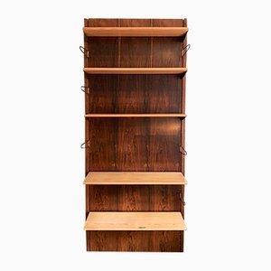 Danish BO 71 Rosewood, Pine, & Brass, Wall Unit by Finn Juhl for Bovirke, 1950s