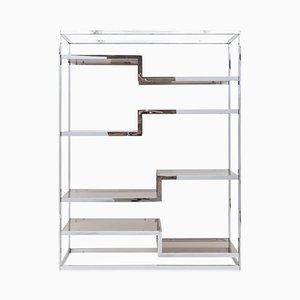 Chromed Metal Shelf by Maison Jansen, 1970s