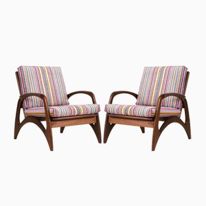 Organic Teak Lounge Chairs from De Ster Gelderland, 1960s, Set of 2