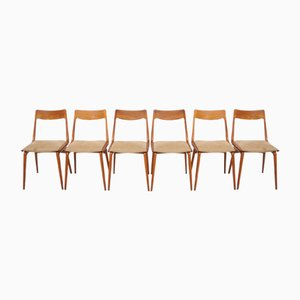 Vintage Boomerang Teak Chairs by Erik Christensen for Slagelse, Set of 6