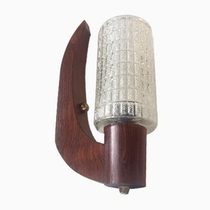 Arch Shaped Swedish Rosewood Sconce by Uno & Östen Kristiansson for Luxus, 1960s