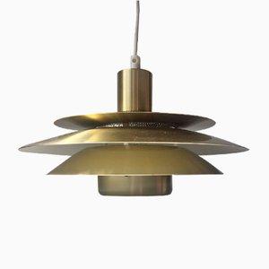 Lampe de Suspension à Niveaux Vintage en Laiton de Jeka, 1970s