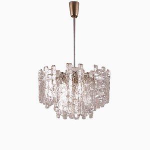 Lámpara colgante vintage de vidrio de Kalmar