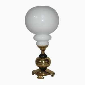 Brass & Glass Table Lamp, 1960s