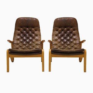 Vintage Metro Sessel von Sam Larsson für Dux, 1970er, 2er Set