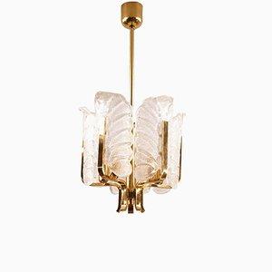 Lámpara colgante vintage de cristal de Murano de Carl Fagerlund para Orrefors