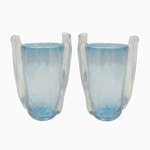 Murano Glass Vases by Seguso Vetri d'Arte, 1960s, Set of 2