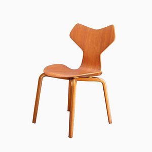 Teak Grand Prix Chair by Arne Jacobsen for Fritz Hansen, 1960s