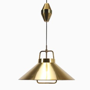 Brass P295 Rise & Fall Pendant by Fritz Schlegel for Lyfa, 1960s