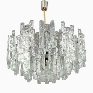 Tiered Glass Chandelier by J.T. Kalmar for Kalmar, 1972