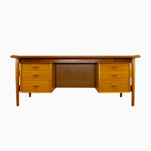 Escritorio de oficina de teca de Arne Vodder para Sibast Furniture, años 60