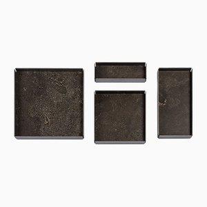 Vassoi modulari Fontane Bianche in pietra d'Avola naturale di Elisa Ossino per Salvatori