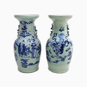 Jarrones chinos, siglo XIX. Juego de 2