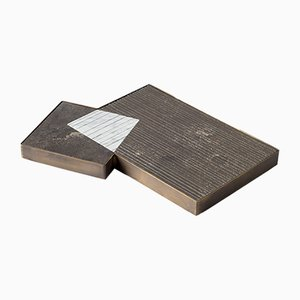 PLAT-EAU Classic 01 Tablett aus Naturstein von Silvia Fanticelli für Salvatori