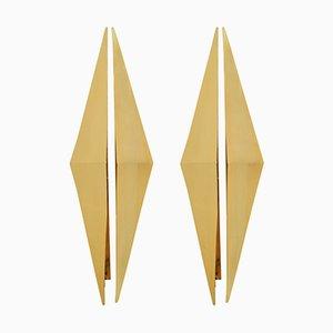 Triangular Sconces, 1950s, Set of 2