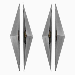 Apliques triangulares, años 50. Juego de 2