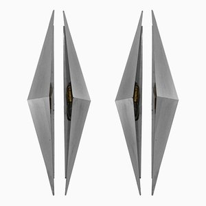 Triangular Sconces, 1950s, Set of 2
