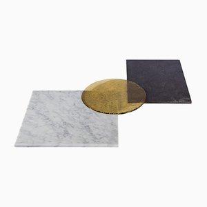 Bandeja PLAT-EAU de vidrio, piedra natural y cristal soplado de Silvia Fanticelli para Salvatori